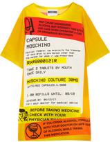 Moschino Oversized Printed Jersey T-shirt Dress - Yellow