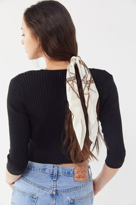Urban Outfitters Lana Silk Patterned Scarf Scrunchie