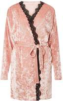 Dorothy Perkins Blush Velvet Dressing Gown