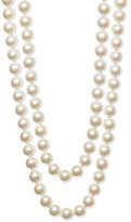 10mm Glass Pearl Extra Long Strand Necklace