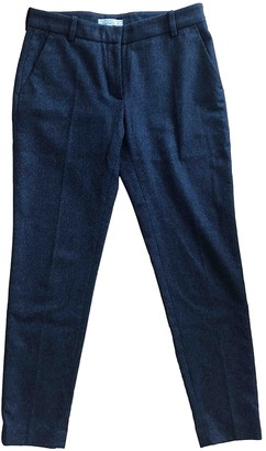 Dagmar Grey Wool Trousers for Women