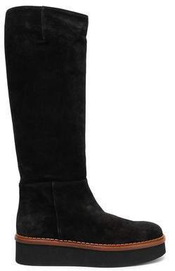 Tod's Suede Platform Knee Boots