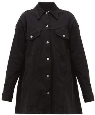 MM6 MAISON MARGIELA Oversized Cotton-blend Twill Jacket - Womens - Black