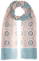 Burberry Printed Cotton And Silk Scarf