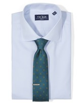 The Tie Bar Light Blue Textured Solid Non-Iron Shirt
