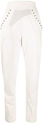 Alberta Ferretti high-waisted leather trousers