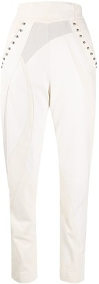 Alberta Ferretti High-Waisted Leather Trousers