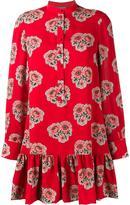 Alexander McQueen poppy print mini dress - women - Silk - 44