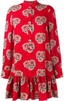 Alexander McQueen poppy print mini dress - women - Silk - 46