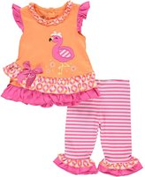 "Nannette Baby Girls' ""Flamingo Contrast"" 2-Piece Outfit"