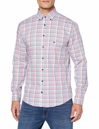 Fynch-Hatton Fynch Hatton Men's Summer Combi Check Shirt 1/1 Sleeve Casual