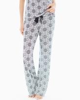 Soma Intimates Pajama Pants Tall Inseam Ornate Tile Geo Ivory