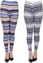 Woogwin Women's Seasonal High Quality Printed Leggings for Fall/Winter