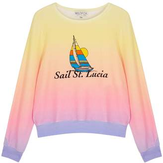 Wildfox Couture Sail St. Lucia Printed Jersey Sweatshirt