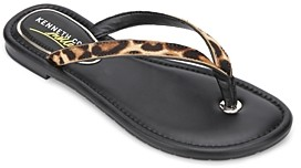 Kenneth Cole Women's Mello Leopard Print Flip-Flops