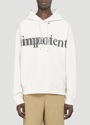 Gucci Impatient/Important Print Hooded Sweatshirt