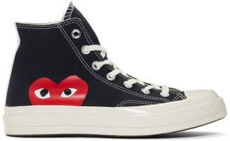 Comme des Garcons Black Converse Edition Half Heart Chuck 70 High Sneakers