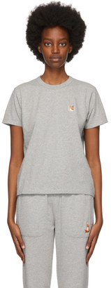 MAISON KITSUNÉ Grey Fox Head T-Shirt