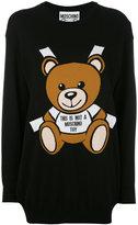 Moschino bear print sweater dress