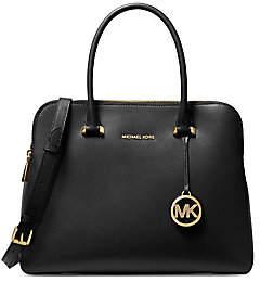 MICHAEL Michael Kors Women's Medium Maddie Leather Dual-Zip Satchel