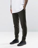 Asos Skinny Joggers With Mesh Panels In Khaki
