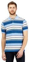 Maine New England Blue Striped Print Tailored Fit Polo Shirt