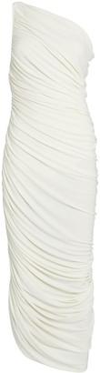 Norma Kamali Diana Ruched One-Shoulder Dress
