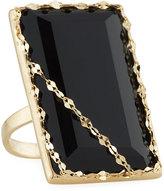 Lana 14k Noir Rectangular Black Onyx Ring