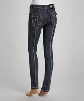 Rebel Spirit Blue Cross-Pocket Skinny Jeans