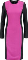 Raoul Eva two-tone stretch-crepe dress