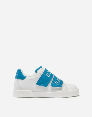 Dolce & Gabbana Portofino Light Sneakers In Branded Nappa Leather