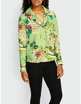 Missguided Floral-print crepe shirt