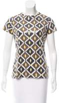 Tory Burch Printed Sequin Top