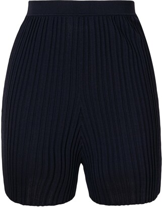 Dion Lee Pleated Fitted Shorts