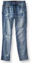 Aeropostale Womens Girlfriend Destroyed Medium Wash Jean