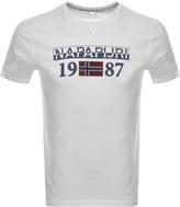 Napapijri Short Sleeved Solin Logo T Shirt White