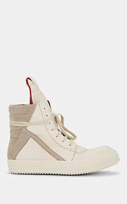 Rick Owens Men's Geobasket Leather & Suede Sneakers - White