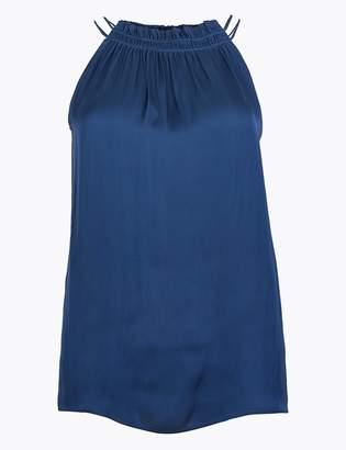 M&S CollectionMarks and Spencer Satin Halter Neck Vest Top