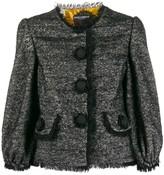 Dolce & Gabbana tweed decorative button blazer