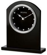 Bulova Ebony Crystal Table Clock