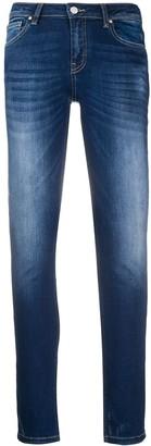 Frankie Morello Logo Patch Slim Jeans