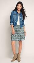 Esprit OUTLET abstract waistband skirt