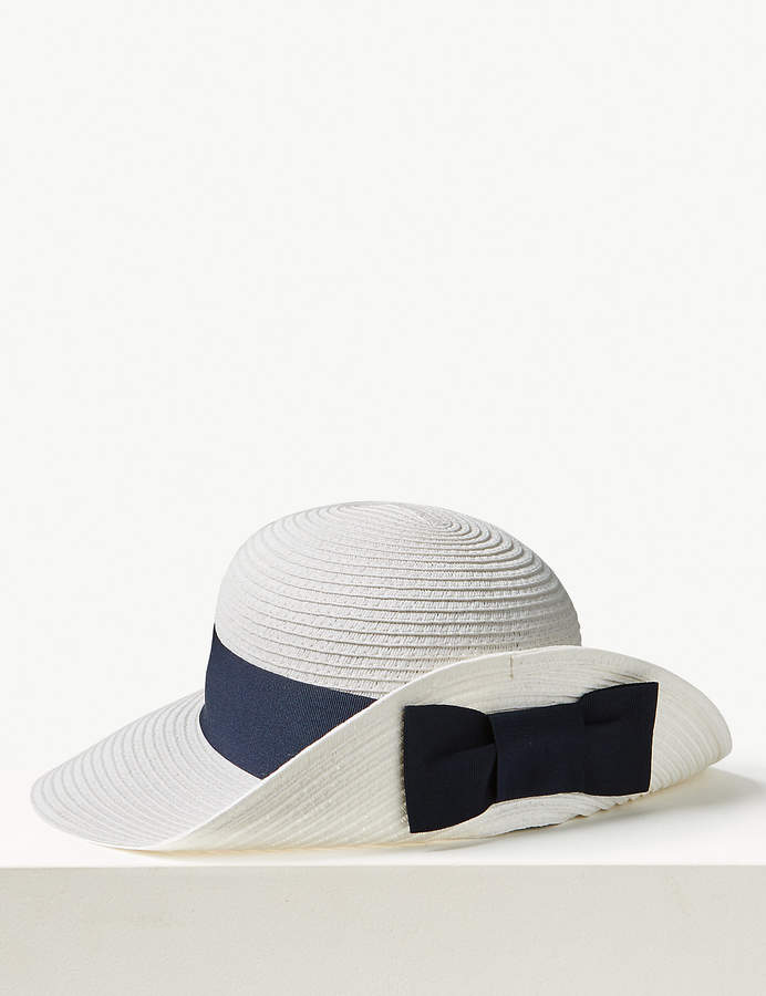 ad3f625d7 M&S CollectionMarks and Spencer Grosgrain Bow up Brim Sun Hat