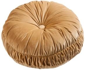 HiEnd Accents Velvet Round Pillow