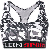 Plein Sport embroidered sports bra