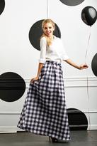 Shabby Apple Pretty in Plaid Maxi Skirt
