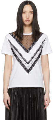 RED Valentino White Lace T-Shirt