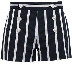 Just Cavalli Striped Cotton-blend Shorts