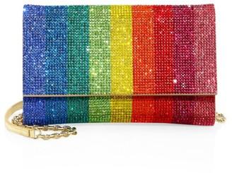Judith Leiber Couture Swarovski Crystal Rainbow Fizzoni Clutch