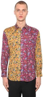 Comme des Garçons Shirt Floral Print Cotton Poplin Shirt